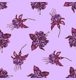 seamless pattern with hand drawn colored fuchsia vector image vector image