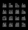 set line icons of factory vector image vector image