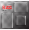 Set of Realistic Glass Plate Template vector image vector image
