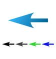 sharp left arrow flat gradient icon vector image vector image