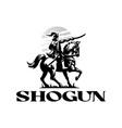 shogun a japanese samurai vector image