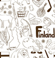 Sketch Finland seamless pattern vector image