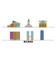spain bilbao flat landmarks vector image vector image