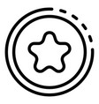 star headhunter emblem icon outline style vector image vector image