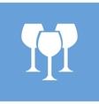 Stemware white icon vector image vector image