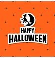 Sticker Happy Halloween vector image