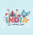 travel india panorama vector image