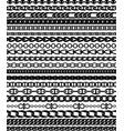 twenty chain pattern brushes vector image vector image