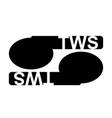 tws text true wireless stereo bluetooth wireless vector image