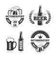 Vintage beer brewery emblems labels vector image vector image