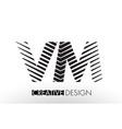 vm v m lines letter design with creative elegant vector image vector image