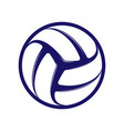 volleyball blue symbol vector image vector image
