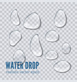 water drop realistic vector image