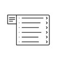 website wireframe menu line icon web page user vector image vector image