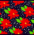 winter floral seasmless pattern with poinsettia vector image vector image