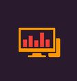 workstation icon vector image