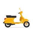 yellow scooter motorcycle vector image vector image