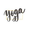 yoga studio concept logo design elegant hand vector image