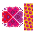 simple heart pattern vector image