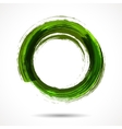 Fresh green brush painted watercolor ring vector image