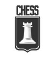 chess club icon template of rook castle vector image