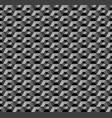 3d hexagons pattern vector image vector image