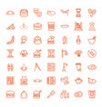 49 traditional icons vector image vector image