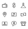9 payment icons vector image vector image