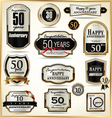 Anniversary luxury labels vector image vector image