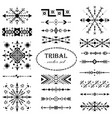 black-and-white set of elements in tribal style vector image vector image