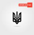 black pixel art ukrainian emblem vector image