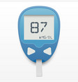 blood glucose meter concept vector image vector image