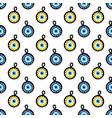 blue evil eye nazar amulet pendant signs pattern vector image vector image