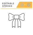 bow editable stroke line icon vector image vector image