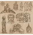 Buddhism - Freehand sketching pack vector image vector image