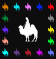 Camel icon sign Lots of colorful symbols for your vector image