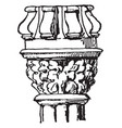 capital decorations vintage engraving vector image vector image