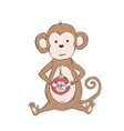 Chinese Lunar New Year Monkey Holding Christmas vector image