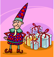 christmas elf or gnome cartoon vector image vector image