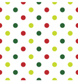 Christmas Polka Dot background in red and green vector image vector image