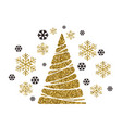 christmas tree holiday background vector image vector image