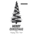 christmas tree sketch isolated on white background vector image vector image