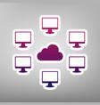computers nerk sign purple gradient icon vector image vector image