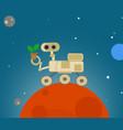 cute cartoon rover exploring mars vector image