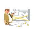 detective character man vector image