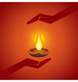 Diwali greeting background vector image vector image