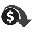 Dollar Decrease Icon vector image vector image