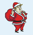 donald trump wearing santa claus costume christmas vector image