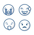 emoticons faces icon vector image
