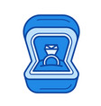 engagement ring line icon vector image
